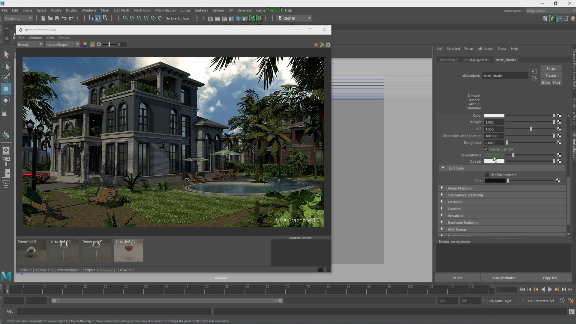 Rendering - Maya - Arnold - Le Graphiste 3D