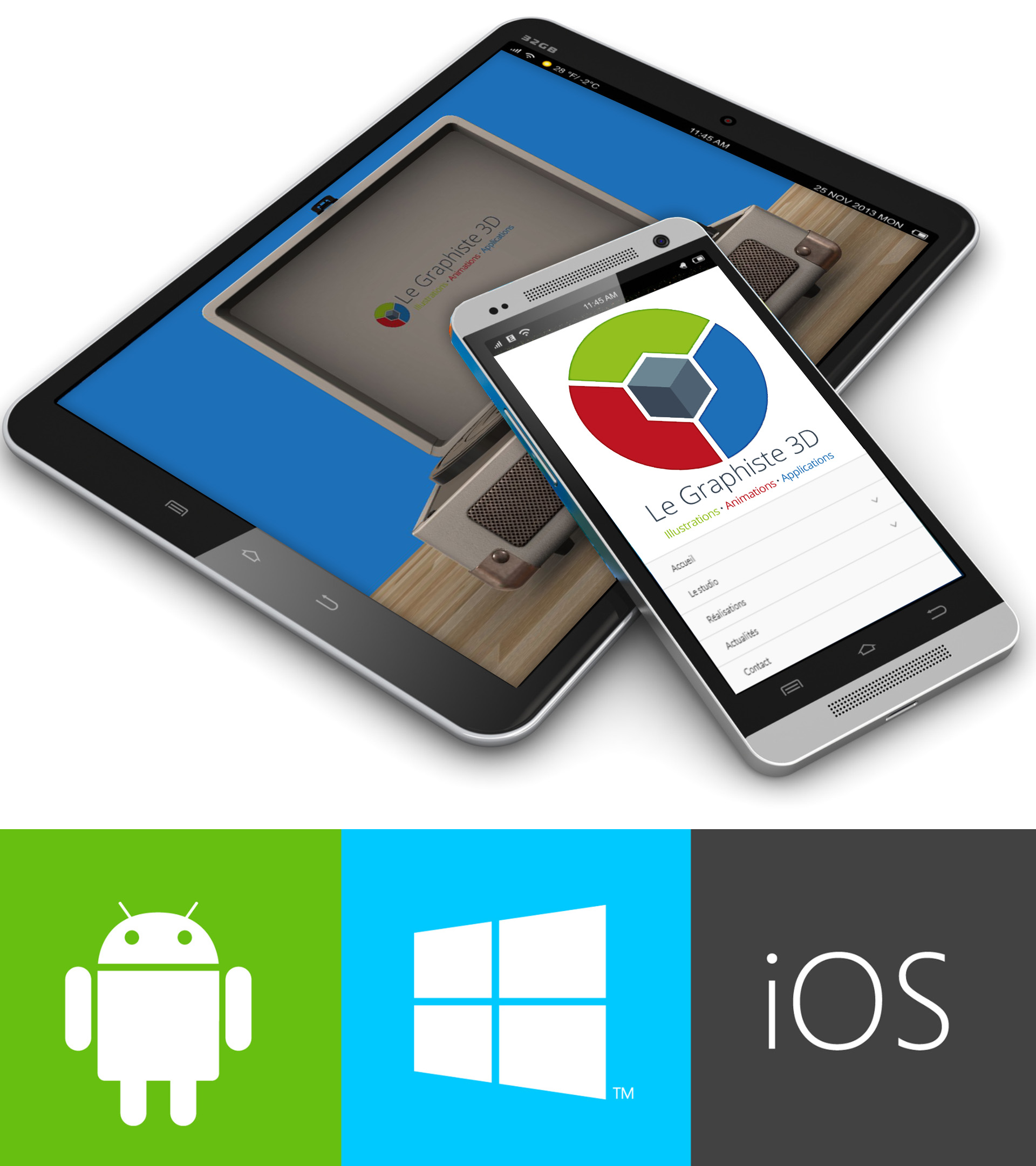 Applications 3D temps réel - Android iOS Windows - Le Graphiste 3D