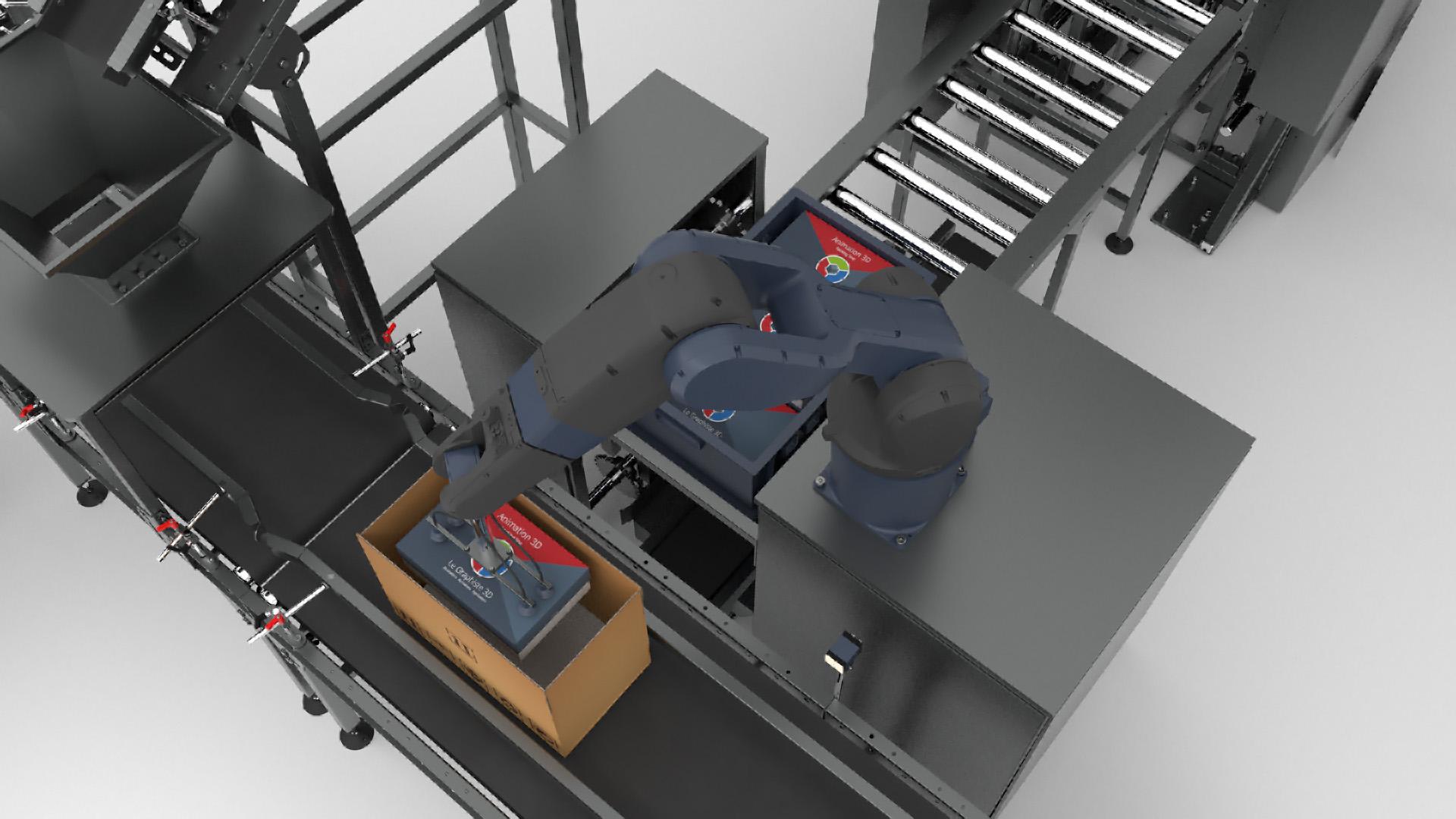 Animation 3D - animation mécanique d'un bras robotisé - Le Graphiste 3D