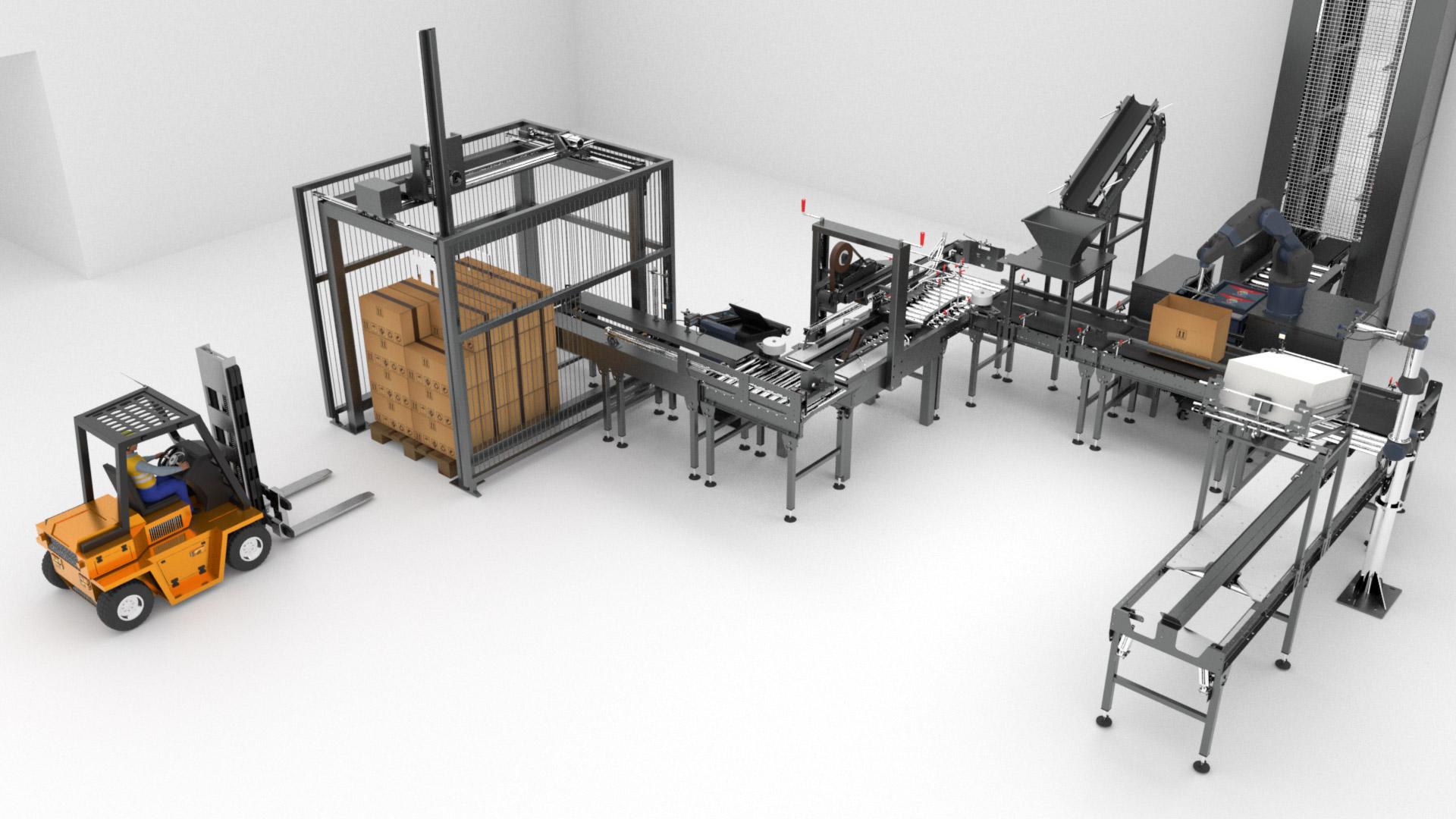Animation 3D : Mise en carton d'un produit
