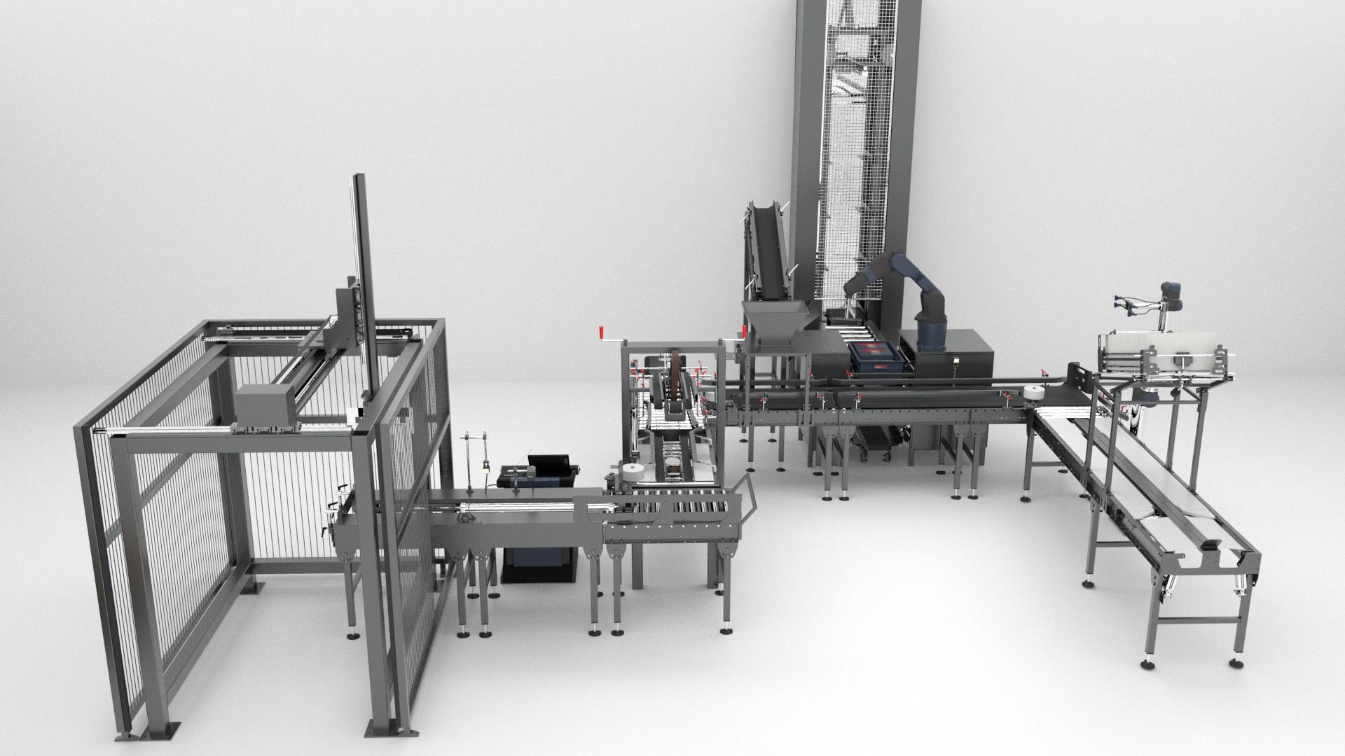 Animation 3D - Chaîne de montage automatisée industrielle - Le Graphiste 3D