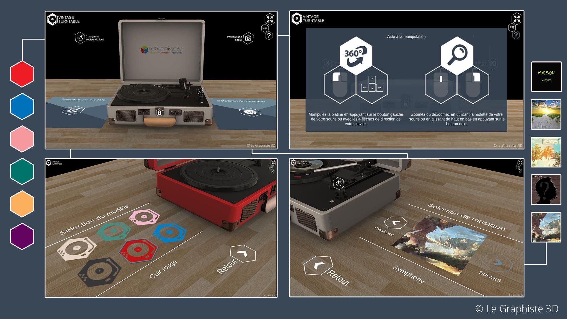 Application 3D temps réel - Design et interface - Le Graphiste 3D