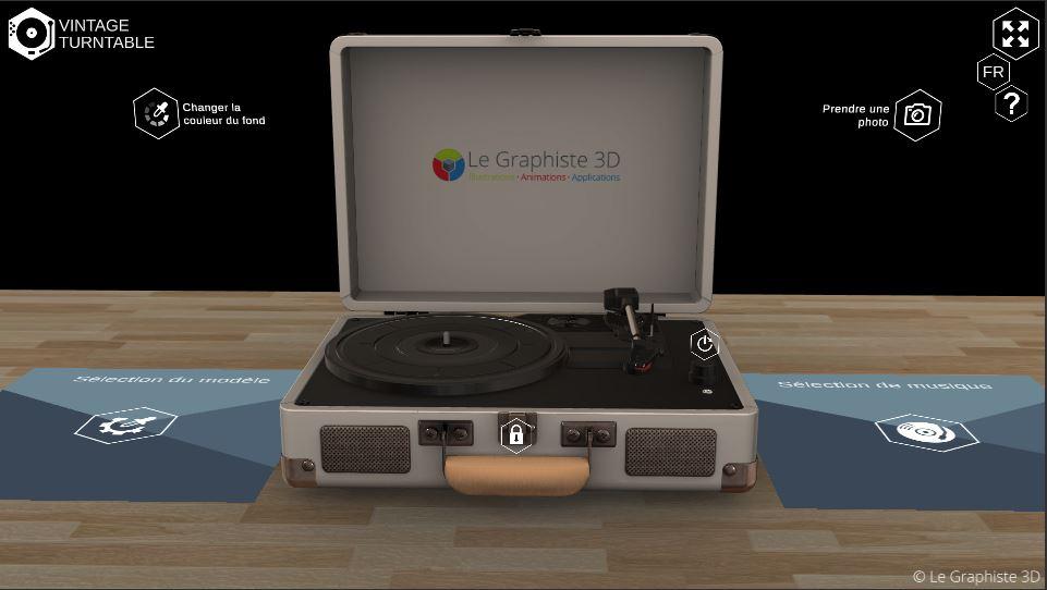 Application 3D temps réel - interface UI world canvas - Le Graphiste 3D