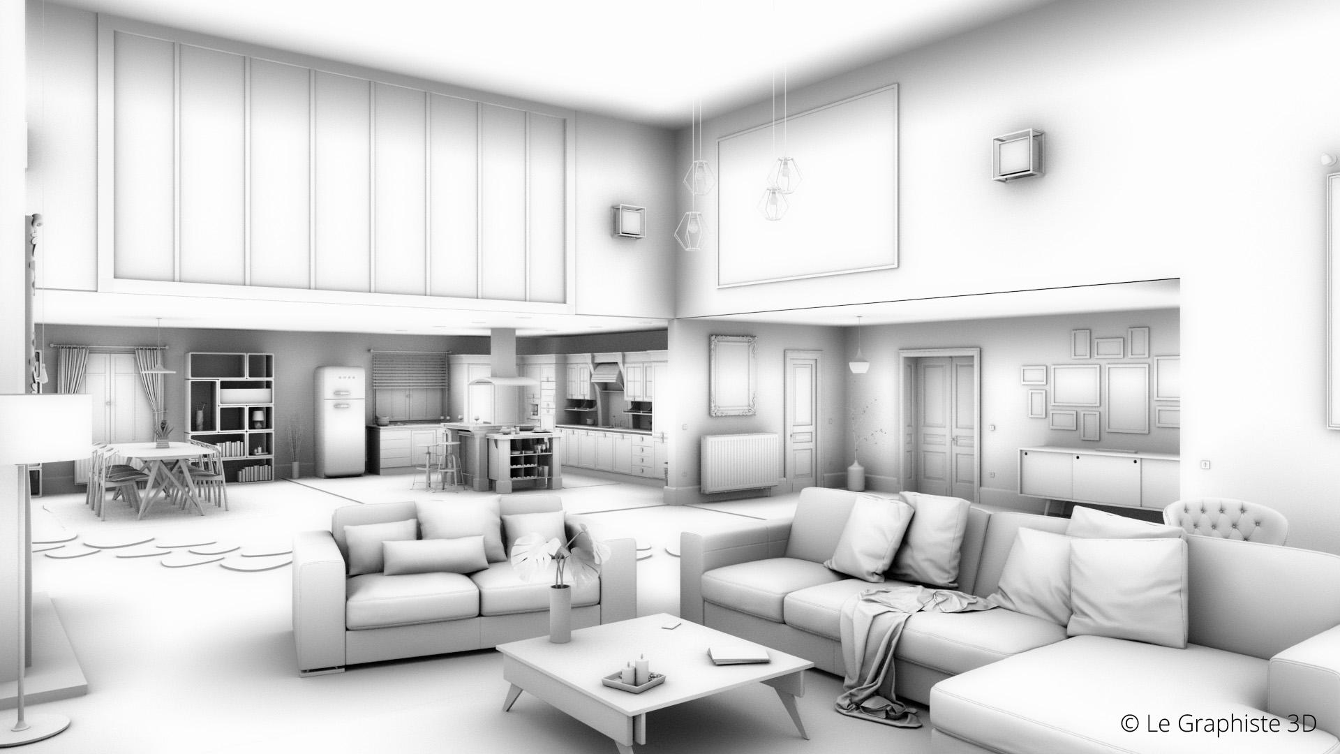 Illustration 3D - Passe d'occlusion - Le Graphiste 3D