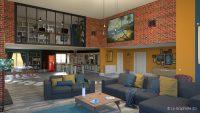 Illustration 3D - loft - salon - Le Graphiste 3D