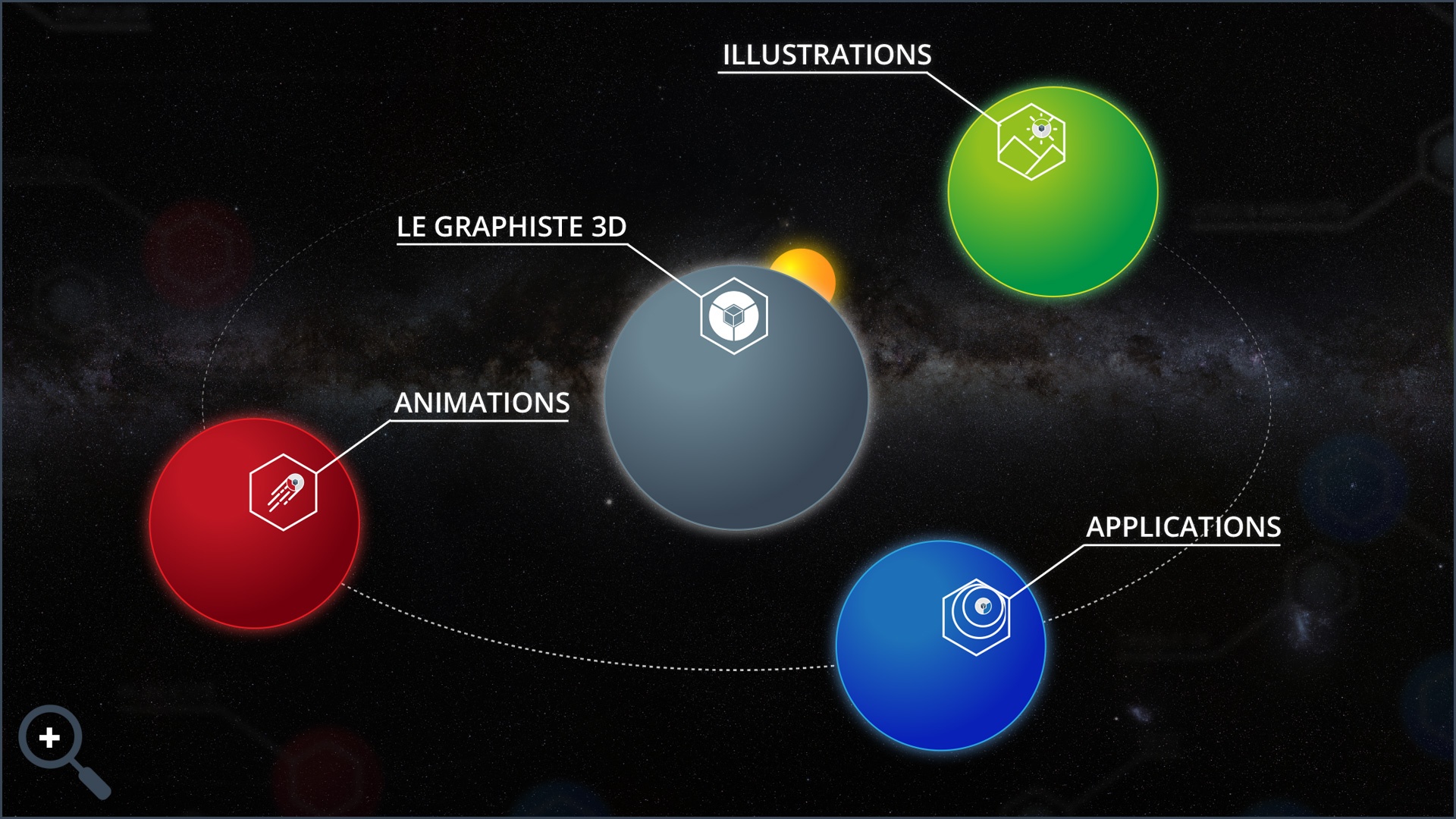 Réalisations - Illustrations - Animations - Applications - Le Graphiste 3D