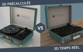 3D temps réel - 3D précalculée - Le Graphiste 3D