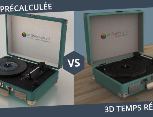 3D temps réel VS 3D précalculée