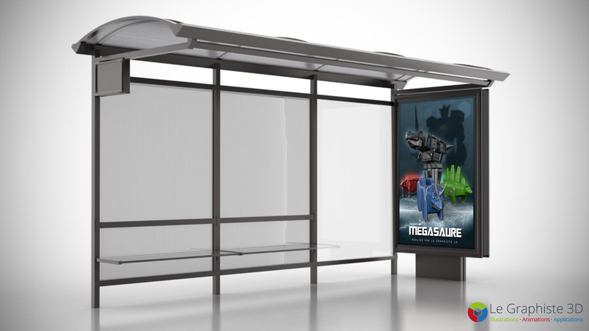 LG3D - Poster, affiche - Robot Mégasaure
