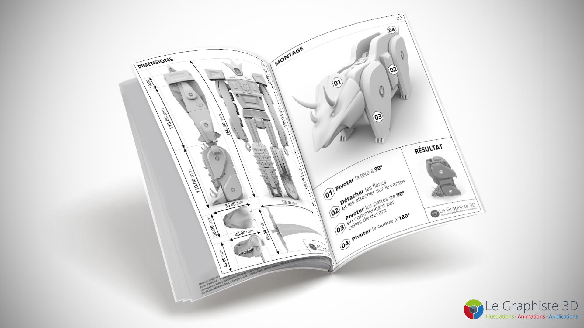 LG3D - Notice technique - Robot Mégasaure
