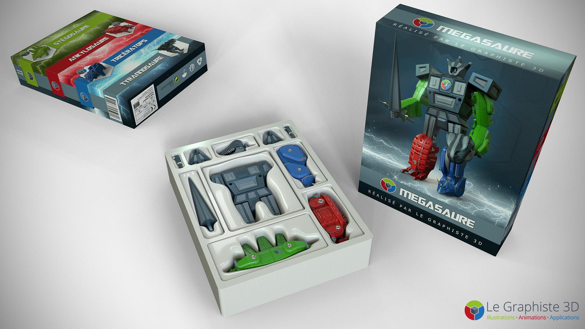 legraphiste3d - Packaging - Robot Mégasaure
