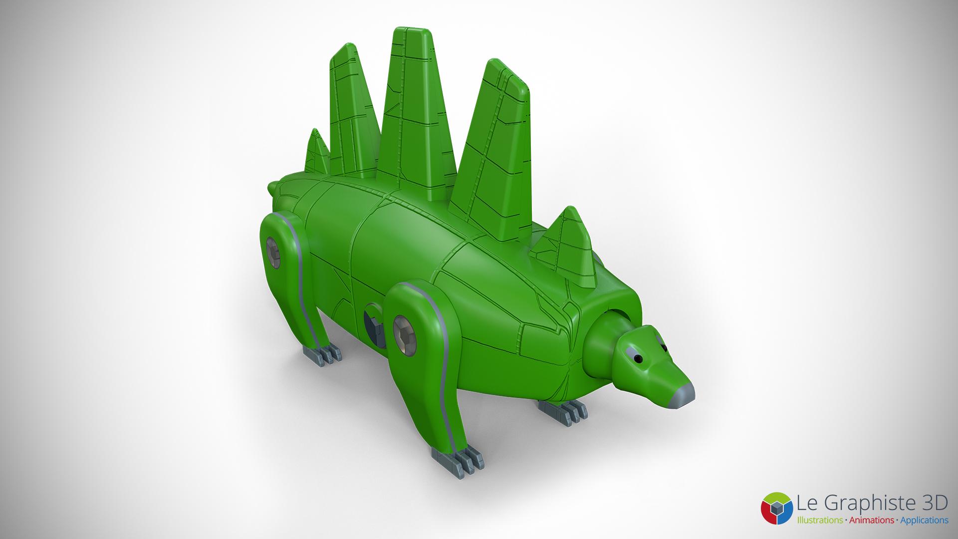 LG3D - Stégosaure - Bras du robot Mégasaure