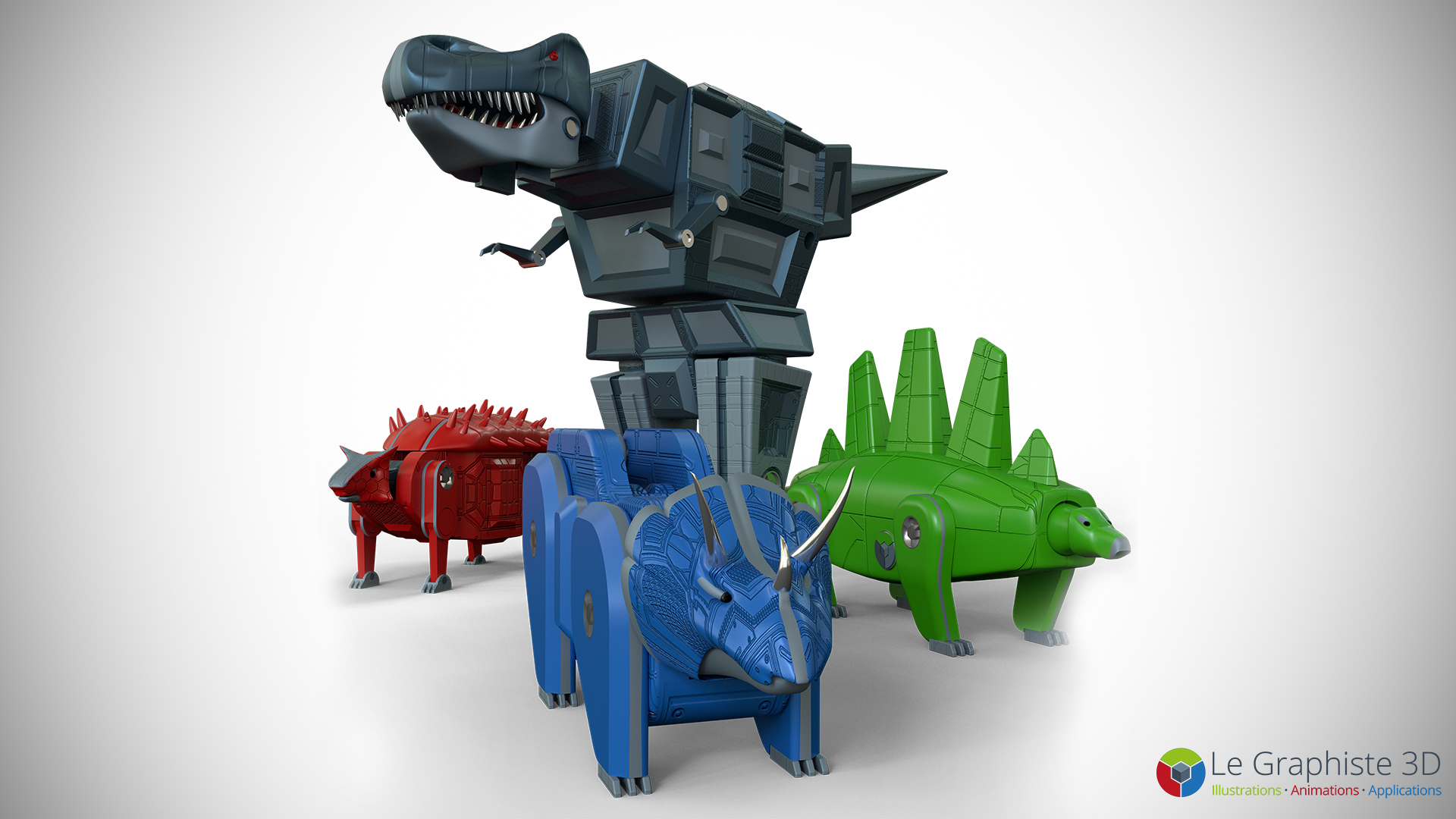 legraphiste3d - Dinosaures - Robot Mégasaure