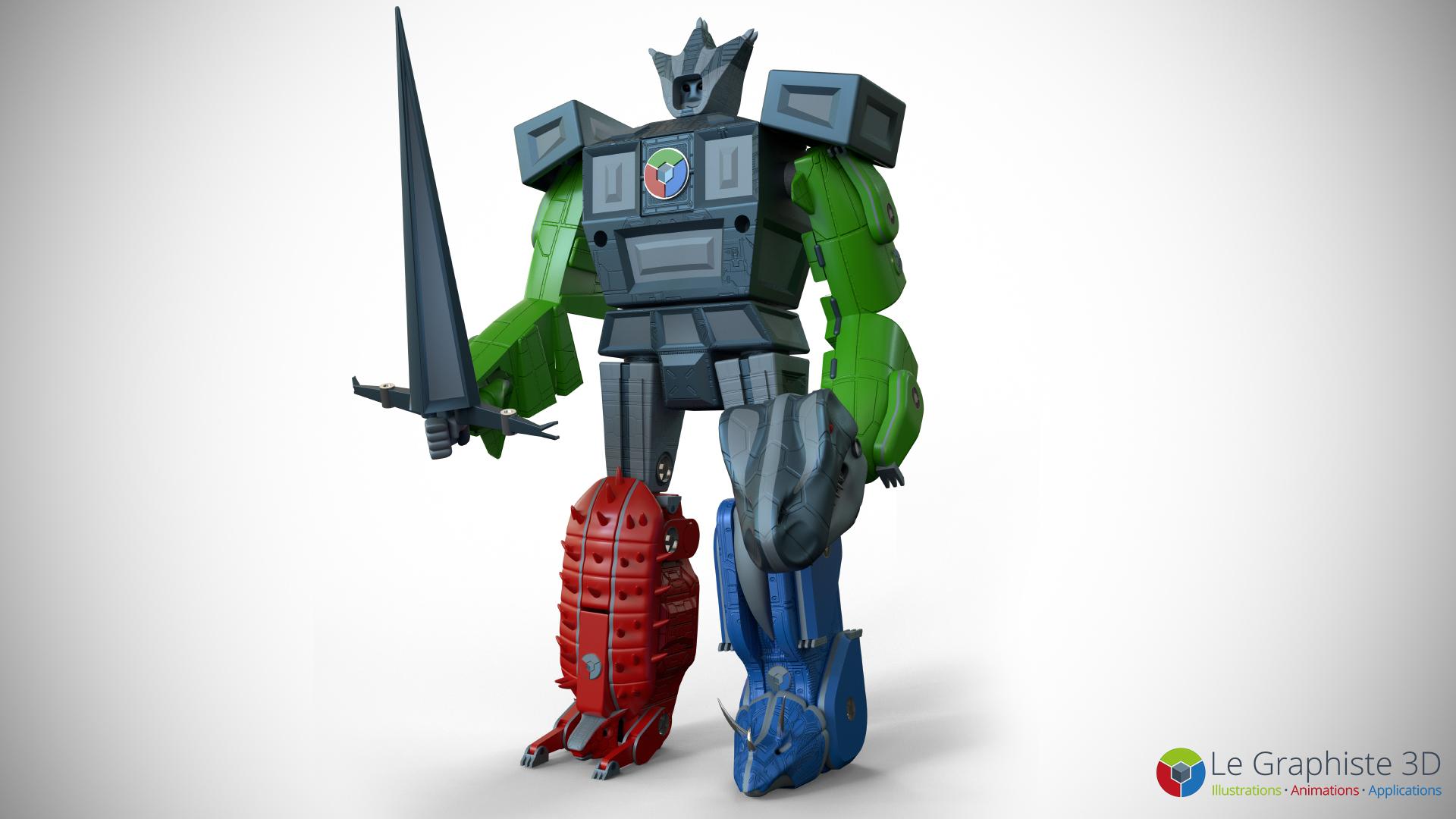 LG3D - Assemblage - Robot Mégasaure