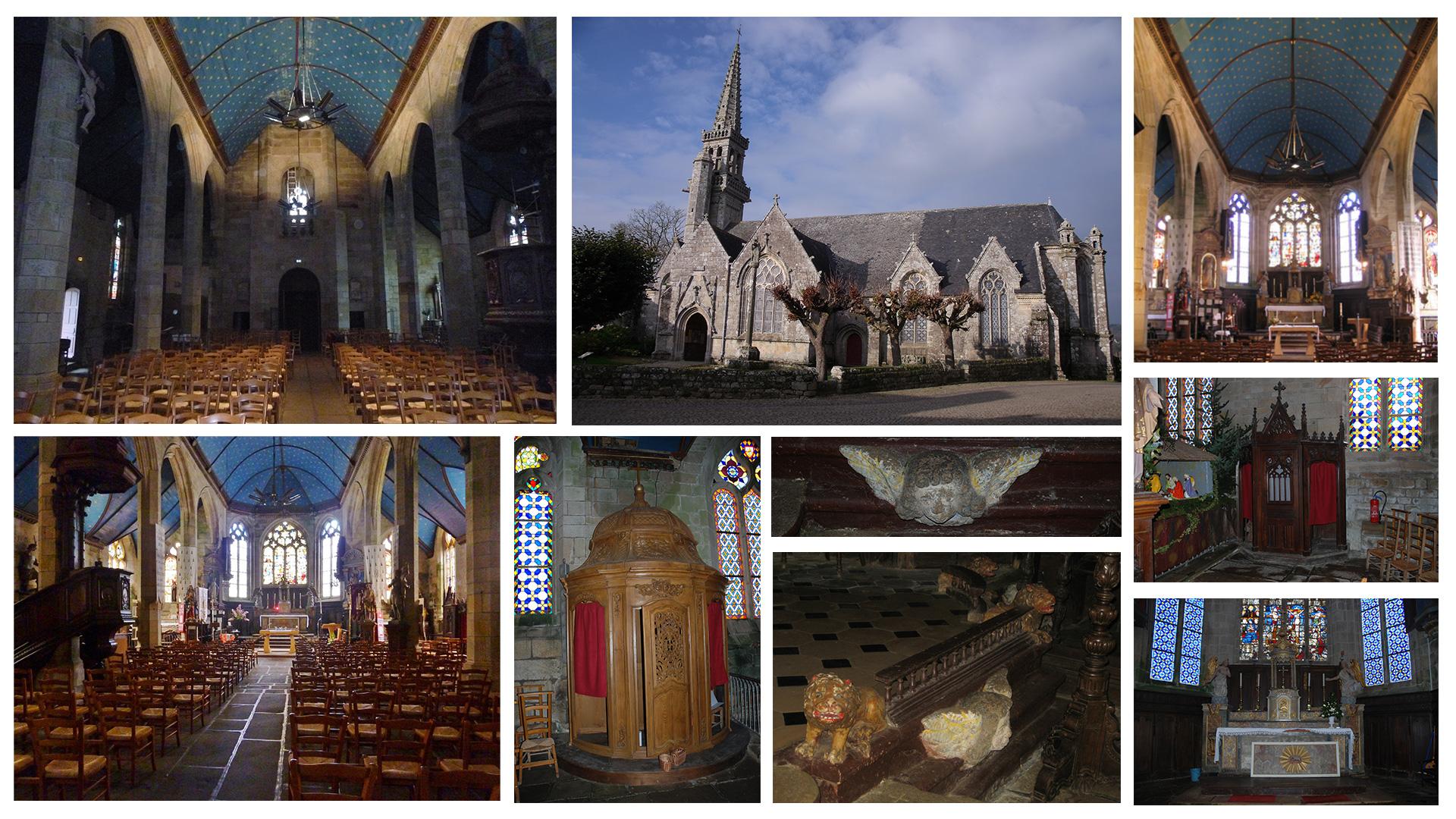 LG3D - Modélisation 3D - Photos de l'église Saint-Maudet, commune du Juch, Bretagne