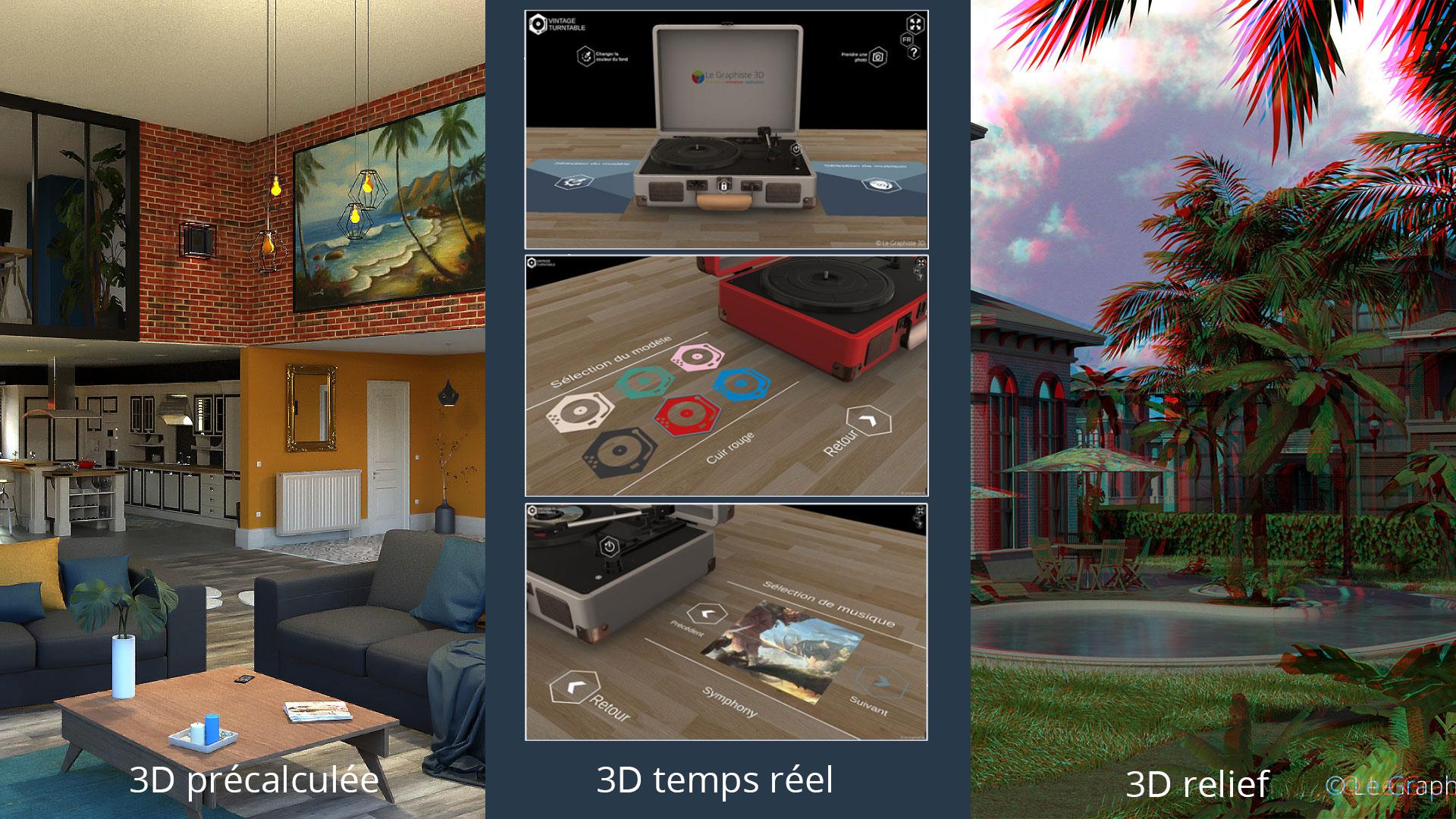 Plusieurs types de 3D