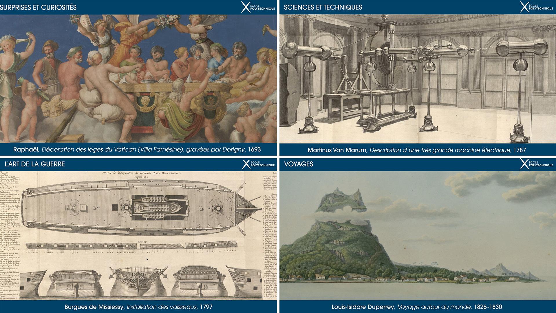 MusX Ecole Polytechnique - Exposition temporaire 2020 2021 - illustrations du diaporama